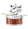 Drum With Melody vector image vector image