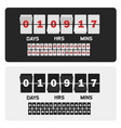 event presentation sale timer number counter vector image