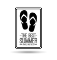 flip flops card best summer travel and enjoy vector image vector image