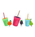 fruits drinks icons vector image vector image