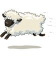 galloping sheep vector image vector image