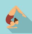 girl gymnastics icon flat style vector image vector image
