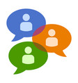 group chat bubbles or forum discussion icon vector image vector image