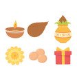 happy bhai dooj burning candle flower gift vector image vector image