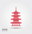 japan architecture symbol pagoda vector image vector image