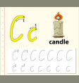 letter c tracing alphabet worksheets vector image
