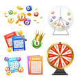 lottery realistic set vector image