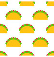 mexican festival taco fastfood seamless pattern vector image vector image