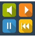 Modern Flat Music Icon Set for Web and Mobile vector image vector image