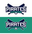 modern professional emblem pirates for vector image