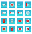 on off switch web buttons icon blue app vector image vector image