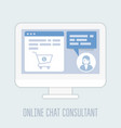 online chat consultant - website assistance hints vector image