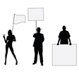 people hoding board vector image