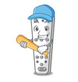 playing baseball character remote control for vector image