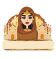portrait muslim beautiful girl in hijab vector image