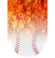 roaring flaming baseball vector image