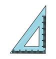 ruler school utensil vector image vector image