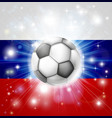 russian soccer flag vector image vector image