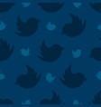 seamless pattern from birds on a navy blue vector image vector image