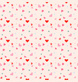 seamless pattern with colorful hearts and light vector image vector image