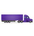 semi truck trailer 05 vector image vector image