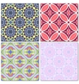 Set of 4 decorative mosaic seamless patterns vector image vector image