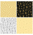 set of backgrounds with dollars - finance vector image vector image