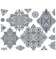 set seven tribal art boho hand drawn geometric vector image