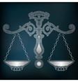 Silver scales zodiac Libra sign vector image vector image