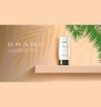 skin or hair care product white bottle on shelf vector image vector image