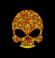 skull russian khokhloma folk traditional painting vector image vector image