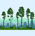 spring beautiful landscape forest silhouettes of vector image vector image