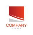 square stripe company logo vector image