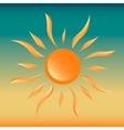 Sun on gradient sky sunset vector image