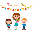 teacher and pupils isolated vector image