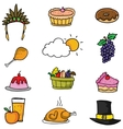 Thanksgiving colorful element on doodles vector image