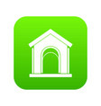 toy house icon digital green vector image