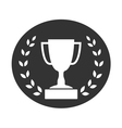 Trophy cup with Laurel wreath icon 2 vector image
