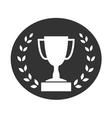 Trophy cup with Laurel wreath icon 2 vector image vector image