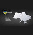 ukraine map with general information infographics vector image vector image