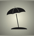 umbrella icon in flat design vector image
