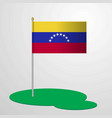 venezuela flag pole vector image
