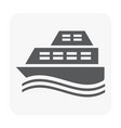 yacht icon on white vector image