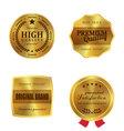 Golden metal badges vector image