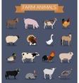 Set of farm animals icons vector image