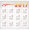 2017 year simple office calendar vector image vector image