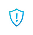Attention warning attacker alert shield sign with