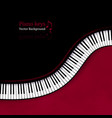 background with top view piano keys vector image vector image