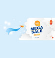 banner for web page special offer mega sale 50 vector image vector image