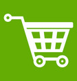 basket on wheels icon green vector image vector image